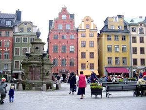 Plaza in the center of Gamla Stan, Stockholm.